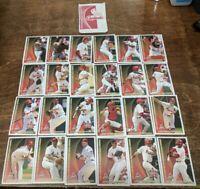 St.Louis Cardinals 2003 Kansas City Life Insurance Company Baseball 24 Card Set