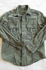 Old Navy Military Style Long Sleeve Shirt Women's Size M
