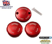 Oberon Performance Red Ducati Reservoir Cap Set RES-0003/0004-RED