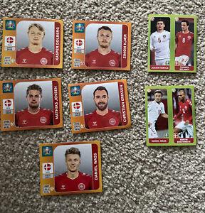 Euro 2020 Collectable Panini Football Stickers Job Lot Denmark Team