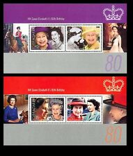 Queen Elizabeth 80th Birthday 2 souvenir sheets 2006 Gibraltar #1038e,f