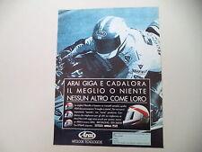 advertising Pubblicità 1991 CASCO HELMET ARAI GIGA e LUCA CADALORA