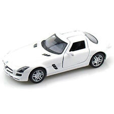 Kinsmart 2011 Mercedes Benz SLS AMG Diecast Display Toy Car 1:36 KT5349D White