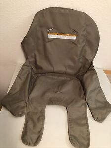 Graco Contempo 2013 High Chair Seat Insert Cover Part Replacement Brown Back