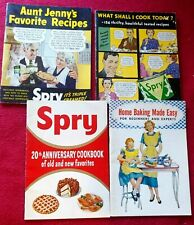 4 Vtg SPRY SHORTENING Easy Home Baking Recipes 1953 to 1955 Cookbook COOK BOOKS