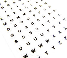 8.5 mm lettere nere sulle etichette chiare, Autoadesivo Adesivi Alfabeto-RCN7947
