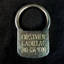Crestview Cadillac Rochester Michigan Advertising Keychain Gold Plated