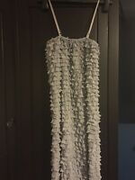 Size 12 frilled grey party dress new