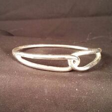Monet Vintage Silver Loop Bangle Bracelet