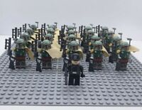 20x Boba Fett Mandalorian Troopers Mini Figures (LEGO STAR WARS Compatible)