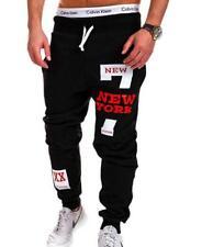 "Mens Boy Casual Sports Pants ""Number 7 NEW YORK"" Printed Loose Sweatpants Dance"