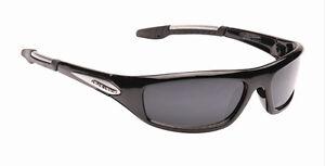Mens Dark Wrap Around Designer Sports Biker Ski Fishing Black Sunglasses + Case