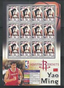 SIERRA LEONE # 2755 MNH YAO MING, NBA BASKETBALL PLAYER Miniature Sheet