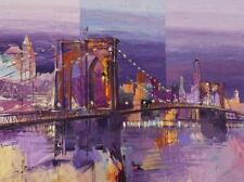 Brooklyn Bridge by Luigi Florio Seascape Sail Boats Open Edition 32x24 Canvas
