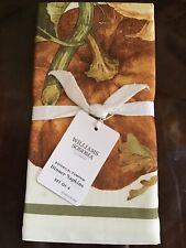New William Sonoma Botanical Pumpkin Dinner Napkins Set Of 4