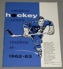 Original 1962-63 American Hockey League Yearbook