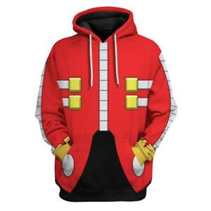 Sonic Dr. Eggman Hoodie Sweatershirt Cosplay Ivo Robotnik Anime Hooded Clothing