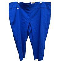 Capri Crop Womens Plus Size 24W Stretch Alfani Tummy Control Pull Up Blue NWT