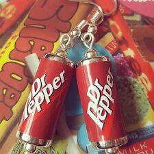 Unique DR PEPPER Orecchini realizzato a mano Designer Bere Soda Pop può Beads