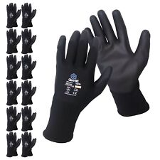 Glovbe 120 Pairs Polyester Work Gloves Gardening Mechanic Construction Safety