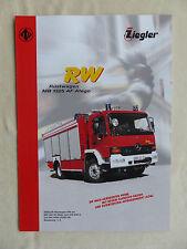 Ziegler Feuerwehr Rüstwagen RW auf MB AF Atego - Prospekt Brochure 05.2005