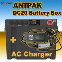 ANTPAK DC20 12V BATTERY BOX DUAL BATTERY SYSTEM DC SOLAR AGM + AC CHARGER