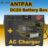 ANTPAK DC20 12V BATTERY BOX DUAL BATTERY SYSTEM DC SOLAR AGM + AC CHARGER