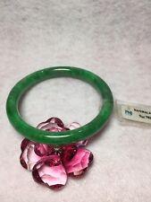 57.76mm- Certified 100% Natural Jadeite Jade Bangle - Emerald Green