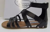 Steve Madden Size 6 Black Leather Sandals New Womens Shoes