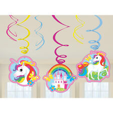 Amscan International 9902115 Unicorn Swirl Decoration Kit