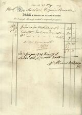 Antico Documento di Abram de Castro Mercante in Lucca 1839