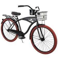 "Huffy 26"" Nel Lusso Men's Cruiser Bike, Matte Black fast shipping"