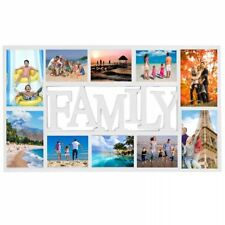 New Large White Rectangular Wall Hanging Family Photo Frame Multi Picture Holder