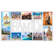 Large White Rectangular Wall Hanging Family Photo Frame Multi Picture Holder
