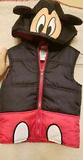 Disney Mickey Mouse  Black Puffer Winter Jacket Vest Size 4T Boys or Girls