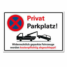 Privatparkplatz Halteverbot Hinweisschild Aluminium Parken verboten Alu 30x20 cm