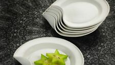 Umbra Bone China Benta Plates Set of 2 White by Angela Schwag BRAND NEW