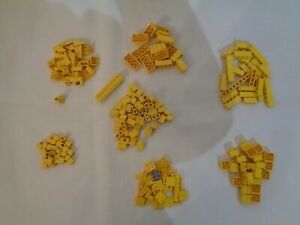 Lego Spare parts brick wedge plate Yellow various size  - Bag of 199
