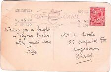 Postmark Earls Court Machine SW5 1920 carte postale Pâques pensé à M. H Petit
