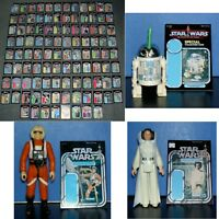 Vintage Star Wars 104 x LOT,SET,MINI BACKING CARDS,CARDBACKS,FIGURE DISPLAY SIZE