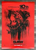 SAW 10th ANNIVERSARY ORIGINAL 2014 D/S JIGSAW HORROR PROMO MOVIE POSTER 27x40