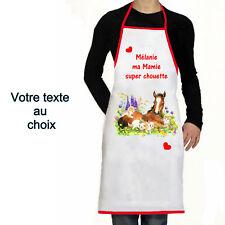 Tablier de cuisine personnalisé super chouette prénom texte choix cadeau réf 12
