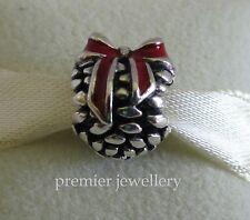 Authentic Genuine Pandora Sterling Silver Pine Cone Red Enamel Charm 791237EN39