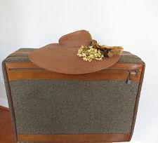Vintage  Hartmann Luggage 24 Inch Suitcase Brown Tweed Leather - Travel Storage