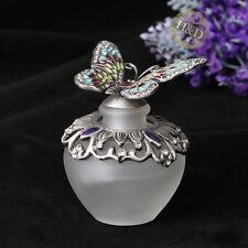 Vintage Empty Butterfly Cut Crystal Perfume Metal Bottle Lady Wedding Gifts 40ml