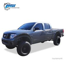 "Black Textured Pop-Out Fender Flares 05-14 Fits Nissan Frontier 73.3"" Styleside"
