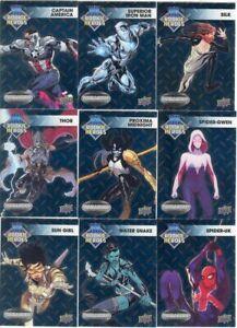2015 Upper Deck Marvel Vibranium Rookie Heroes Card Set Of 10 Cards! FOIL SET!