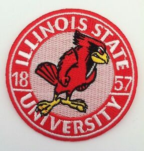 "ISU Illinois State Redbirds Vintage RARE Embroidered Iron On Patch (NOS) 3"" x 3"""