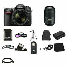 Nikon D7200 Digital SLR Camera w/18-140mm & 55-300mm Lenses 64GB Full Kit