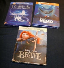 Brave, Finding Nemo & Cinderella Empty (Blu-ray) Steelbook Cases - Best Buy